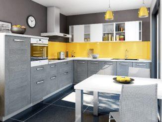 Pose de cuisine moderne